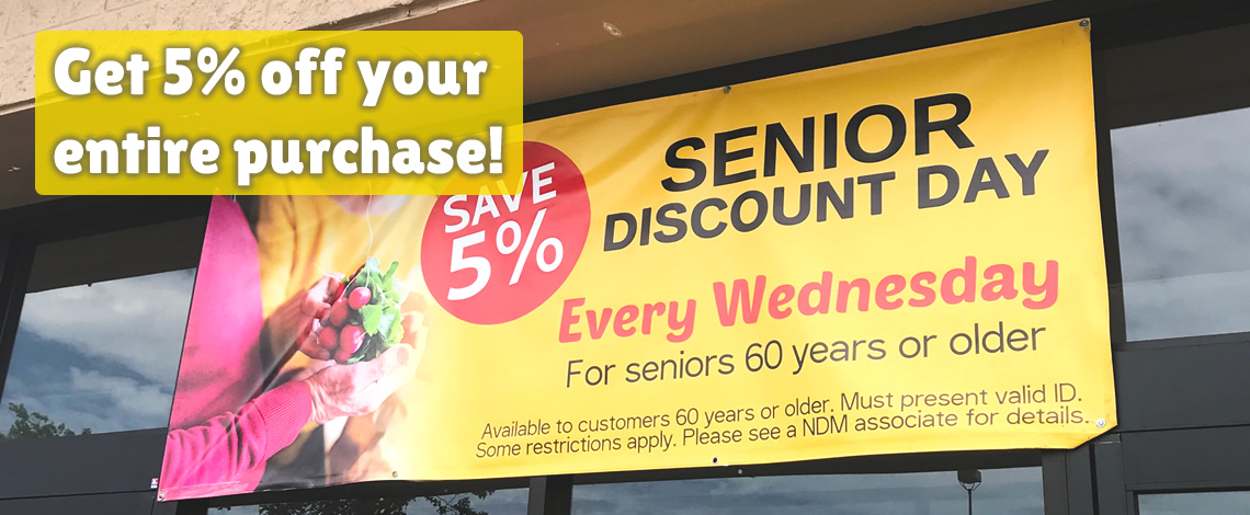 Senior Discount Days